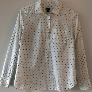 J.Crew Polka Dot Long Sleeve Button Shirt (Small)